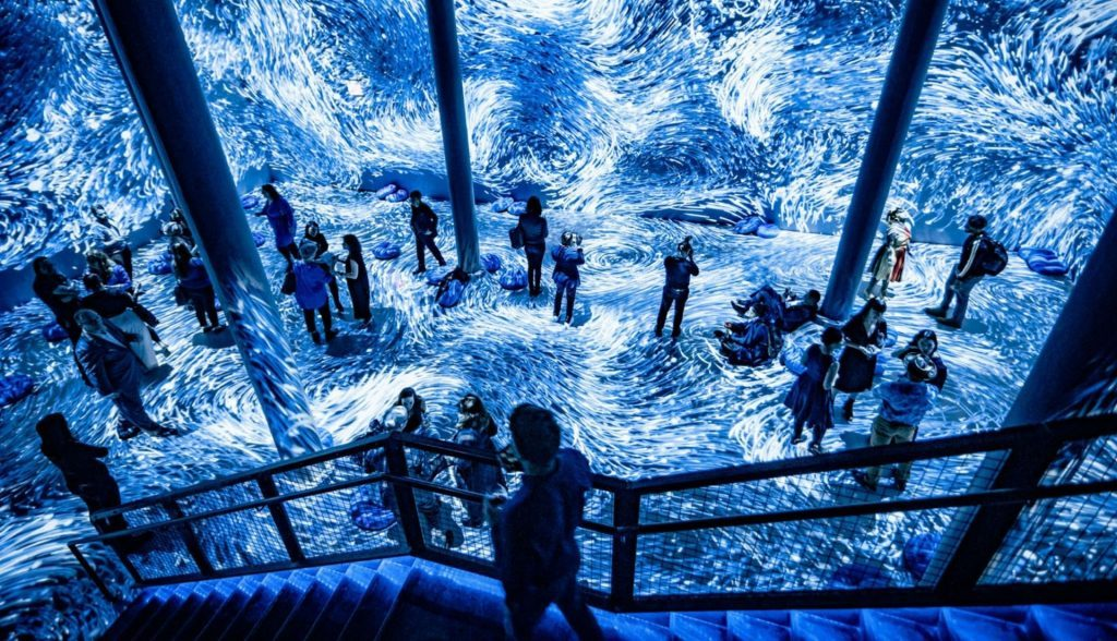 Submerge at ARTECHOUSE NYC Pantone Color of the Year Classic Blue